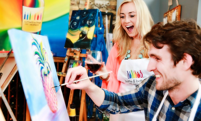 Bottle & Bottega Minneapolis - Multiple Locations: 2.5-Hour Painting Party for One, Two, or Four at Bottle & Bottega Minneapolis (Up to 43% Off)