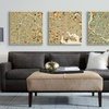 """26"""" x 26"""" Abstract Urban Maps on Gallery Wrapped Canvas"""