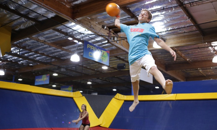 Sky High Sports - Orange County: Jump Time or Dodgeball Court Rental at Sky High Sports (Up to 51% Off)