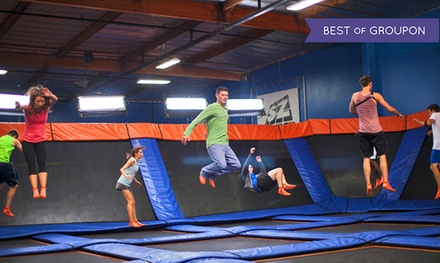 Two One-Hour Jump Passes with SkySocks or Weekday Birthday Party for 10 at Skyzone (Up to 41% Off)