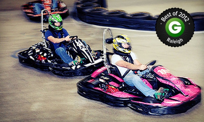 RushHour Karting - Garner: Two Eight-Minute Races or Grand Prix Race Package for up to 10 at RushHour Karting (Up to 64% Off)