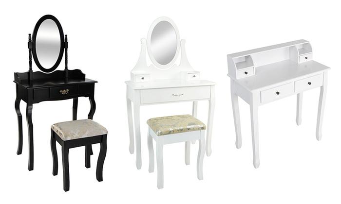 coiffeuse baroque noir maison design. Black Bedroom Furniture Sets. Home Design Ideas