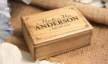 Personalised Engraved Wooden Jewellery Box Small 9 Or Medium 12