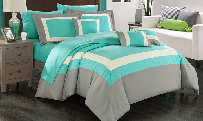 Up To 79 Off On 10pc Bed In A Bag Comforter Sets Livingsocial Shop