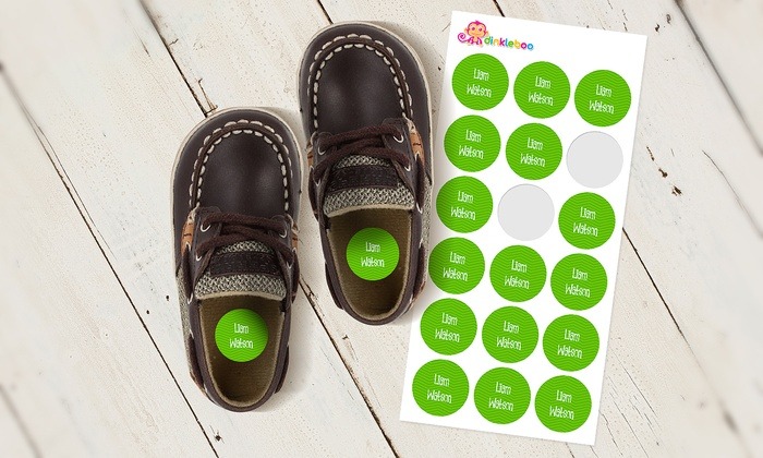 Dinkleboo: Kids' Personalized Shoe Dots from Dinkleboo (Up to 58% Off)