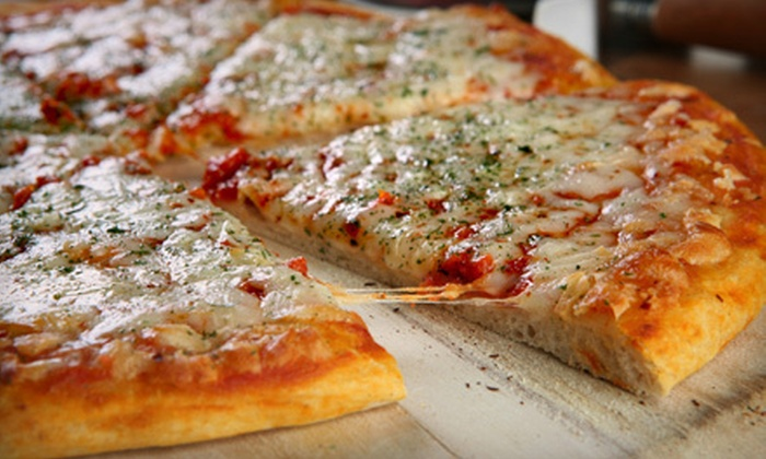 Sergio's Pizza - Chelsea: $10 for One 18-Inch Cheese Pizza, One Appetizer, and Two Sodas at Sergio's Pizza (Up to $26.95 Value)