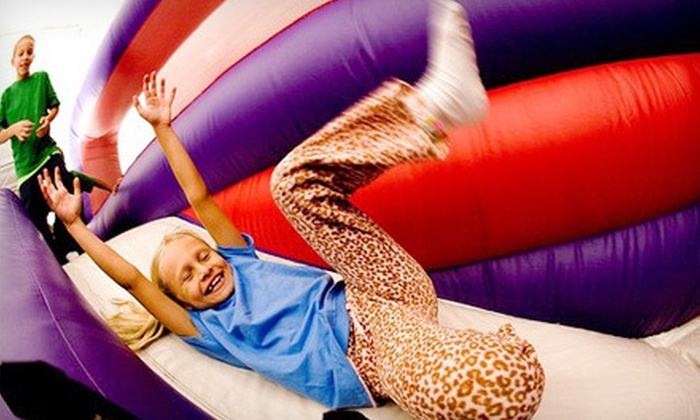 BounceU Sanford - Sanford: Five Open-Bounce Sessions or Family Bounce Pack with Pizza and Drinks at BounceU Sanford (Up to 51% Off)