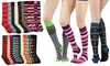 Women's Knee-High Printed Socks (12-Pack): Women's Knee-High Printed Socks (12-Pack)