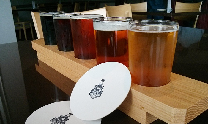 Railtown Brewing Company - Dutton: Beer Flights for Two or Four at Railtown Brewing Company (Up to 43% Off)