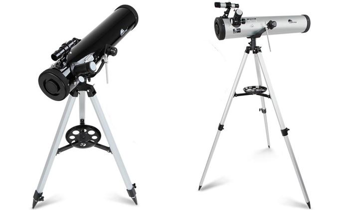 Telescopio riflettore con accessori disponibile in 2 colori con spedizione gratuita a 59,99 €