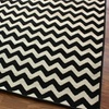 nuLOOM Black and White Chevron Rugs