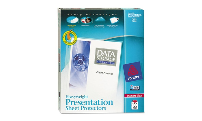 Avery Top-Loading Heavyweight Sheet Protector 100-Pack: Avery Top-Loading Heavyweight Sheet Protector 100-Pack. Free Returns.