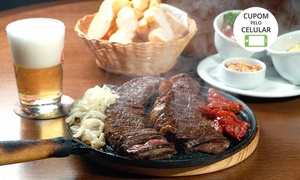 Restaurante Villa Maestria: Villa Maestria – Salgado Filho: picanha na chapa ou filé de frango à parmegiana e sobremesa para 2 ou 4 pessoas