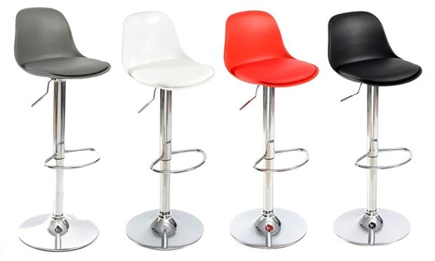 set de 2 tabourets de bar design groupon. Black Bedroom Furniture Sets. Home Design Ideas