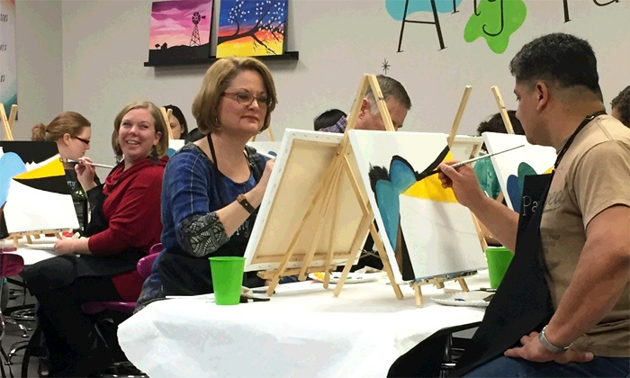 Arty Party Paint & Sip Studio - Corinth: Two-Hour BYOB Canvas-Painting Class for Two or Four at Arty Party Paint & Sip Studio (Up to 54% Off)