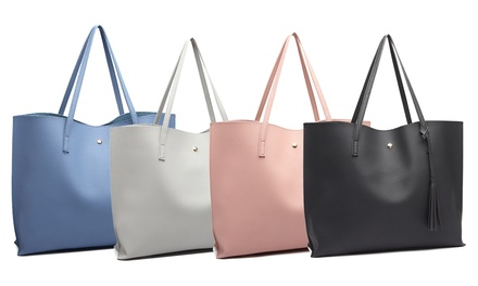 Soft Pebbled Tote Bag