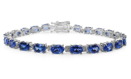 10.00 CTTW Genuine Tanzanite Bracelet