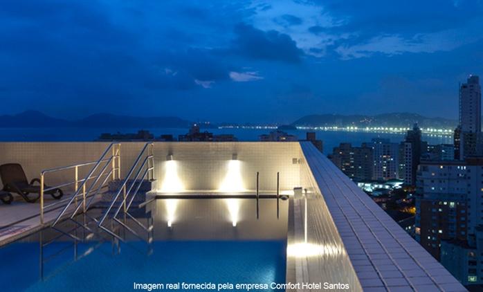 Santos/SP: até 4 noites para 2 pessoas + café da manhã no Comfort Hotel Santos