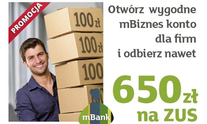 mBank - Łódź: 0 zł: bezpłatne mBiznes konto dla firm i 650 zł premii pieniężnej