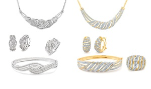 1.00 Cttw Diamond 4-piece Jewelry Set
