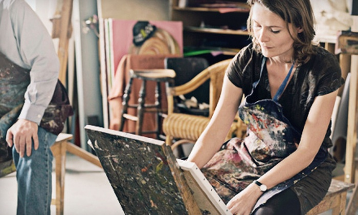 Sharri's Discount Art Supplies - Normal Station Neighborhood Association: Three-Hour BYOB Painting Class for 1, 2, 6, or 12 at Sharri's Discount Art Supplies (Up to 63% Off)
