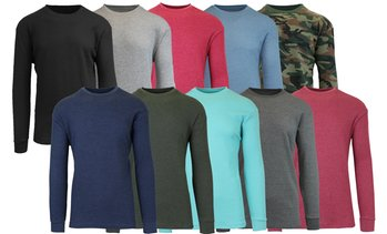 2-Pack Galaxy By Harvic Men's Waffle-Knit Thermal Shirts (S-5XL)