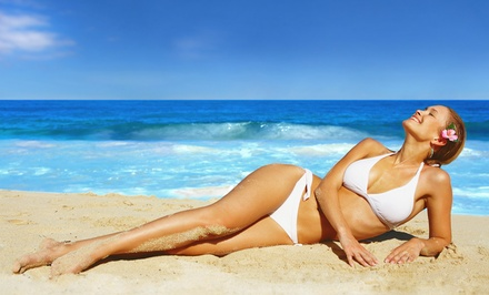 One or Three UV-Free Mystic Tans or One Month of Unlimited Tanning in Booth or Bed at Tan Doctor (Up to 52% Off)