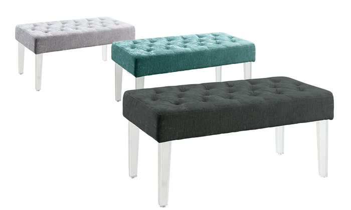 Ella Acrylic Leg Bench Groupon Goods