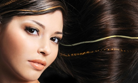Blowout or Haircut with Optional Single-Process Color at Pure Skin Salon and Spa (Up to 59% Off)