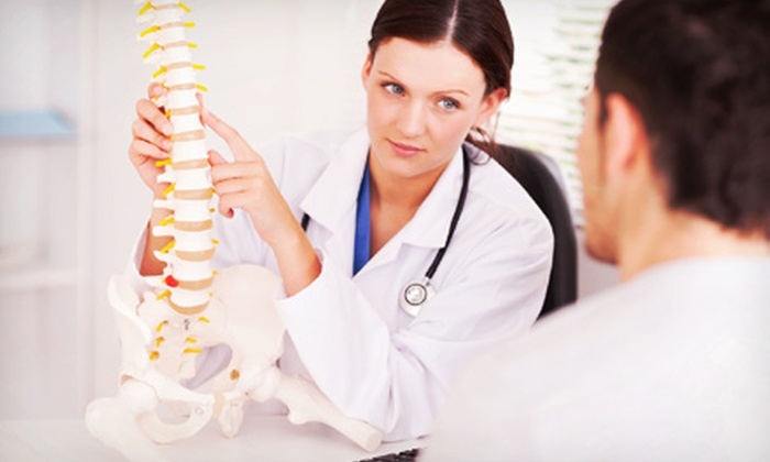 The Joint - Elmwood: Chiropractic Package with Consultation, Exam, and Four Adjustments for One or Two at The Joint (77% Off)