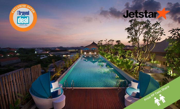 Bali, Kuta: From $499 PP for Six Nights with Breakfast, Massages, Cocktails and Flights at Ramada Sunset Road Kuta
