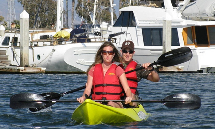 Chula Vista Kayak - J St. Marina boat launching ramp: 2-Hour Tour or 3-Hour Rental in a Single or Tandem Kayak from Chula Vista Kayak (Up to 51% Off)