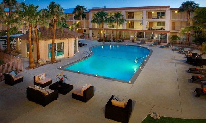 Aqua Soleil Hotel & Mineral Water Spa - Desert Hot Springs, CA: One- or Two-Night Stay for Two at Aqua Soleil Hotel & Mineral Water Spa in Desert Hot Springs, CA