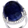45.45 CTTW Tanzanite, Topaz, and Diamond Ring in Sterling Silver