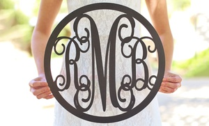 Morgann Hill Designs: One or Two Personalized Monogram Wall Hangings from Morgann Hill Designs (Up to 54% Off)