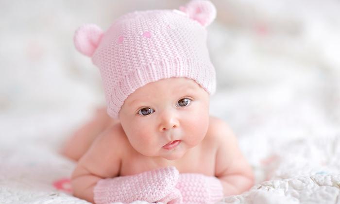 Newborn photoshoot with prints