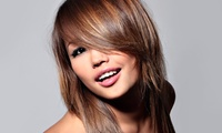 Haircut and Style with Optional Brazilian Split-End Treatment or Highlights at Pure Beauty Salon (Up to 46% Off)