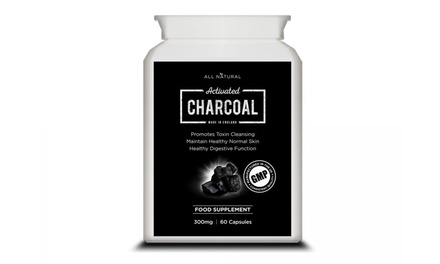 One or Two Packs of All Natural Activated Charcoal 300mg 60 Capsules
