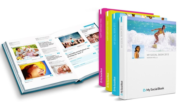 My Social Book: 50-, 100-, or 200-Page Hardcover Facebook Album from My Social Book (Up to 50% Off). Shipping Included.