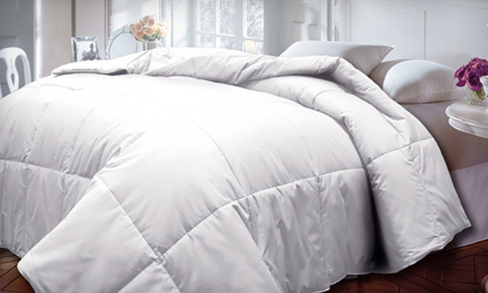 100% Cotton Down-Alternative Comforter: Cotton Down-Alternative Comforter (Up to 69% Off). Multiple Sizes and Colors Available. Free Shipping and Free Returns.