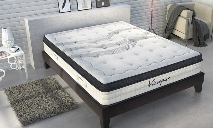 matelas en latex et m moire de forme 25 cm groupon shopping. Black Bedroom Furniture Sets. Home Design Ideas