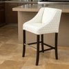 Filton Bonded-Leather Quilted Barstool