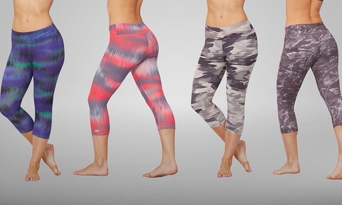 8a4136a3aa84e2 Marika Tek Printed Capri Leggings | Groupon