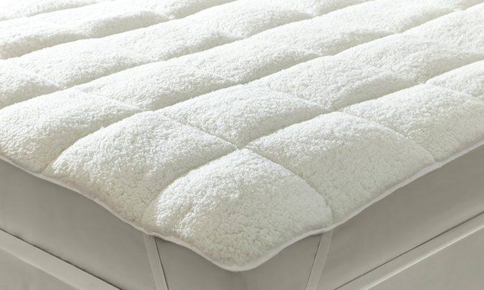 Sherpa Fleece Reversible Mattress Topper