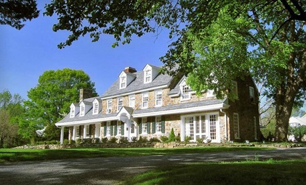 Groupon Deal: Two-Night Stay with Dining and Wine Package at Chimney Hill Estate & The Ol' Barn Inn in Lambertville, NJ