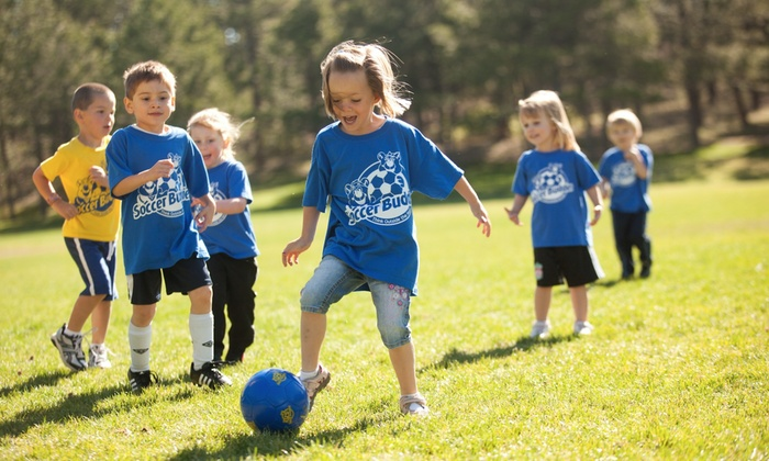 Soccer Buddies - Multiple Locations: Five Days of Sports Camp at Soccer Buddies (45% Off)