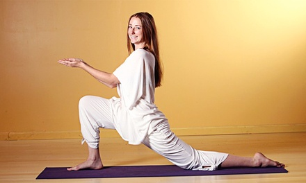 Five Yoga Classes or One Month of Unlimited Yoga Classes at Divinitree Yoga and Art Studio (Up to 79% Off)