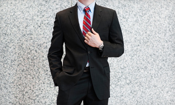 Luxury Plus - Luxury Plus: Three Monogrammed Shirts, Custom Tailored Wool Suit, or Custom Ermenegildo Zegna Suit at Luxury Plus (Up to 79% Off)