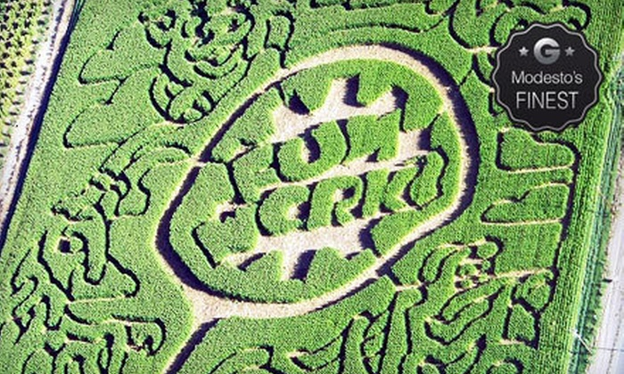 Funworks! - Modesto: Corn-Maze or Amusement-Park Outing for Two, Four, or Six at Funworks! (Up to 55% Off)