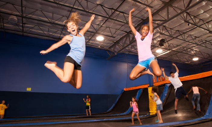 Cosmic Jump - Jones Road: $12 for Two 60-Minute Indoor Trampoline-Park Visits at Cosmic Jump (Up to $24 Value)